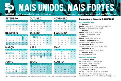 calendario escolar   spm sindicato dos professores da madeira