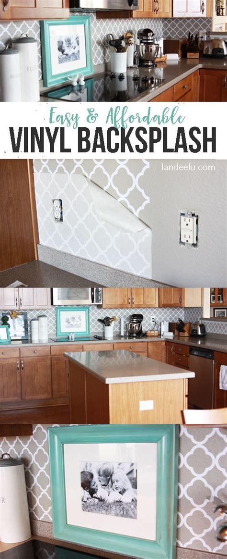 Easy Diy Kitchen Backsplash Easy Vinyl Backsplash For The Kitchen Vinyls Countertops And