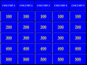 Jeopardy Template by Blank Jeopardy Powerpoint Template Search Results