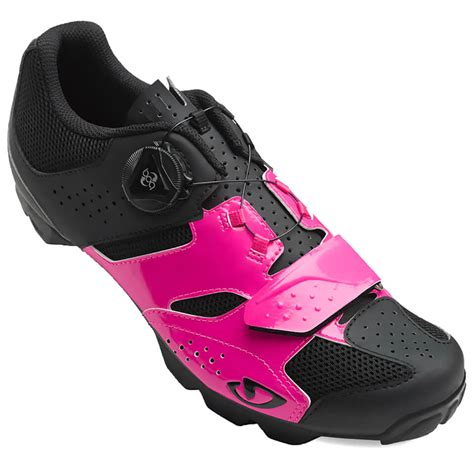 giro cylinder womens mtb cycling shoes bright pink