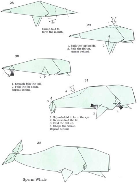 How To Make A Origami Whale - origami whale fig 003 craft journals
