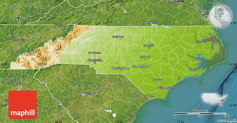 physical map of nc physical map of carolina satellite outside