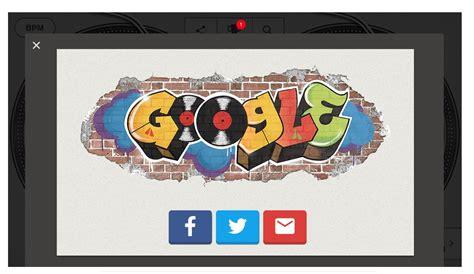 doodle que significa celebra el nacimiento hip hop con un doodle dj