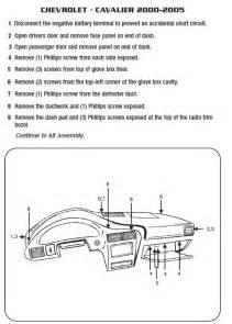 2002 Chevy Cavalier Light Wiring Diagram 2002 Chevrolet Cavalierinstallation Instructions