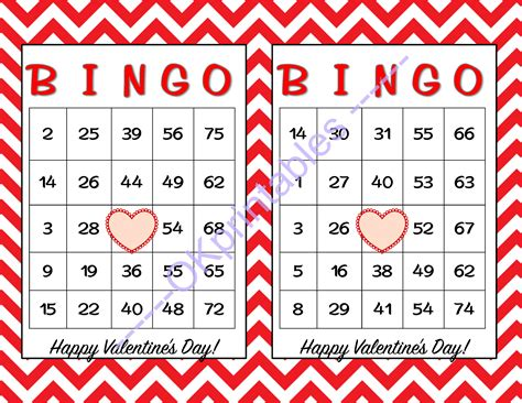 s day bingo card template 60 happy valentines day bingo cards by okprintables on