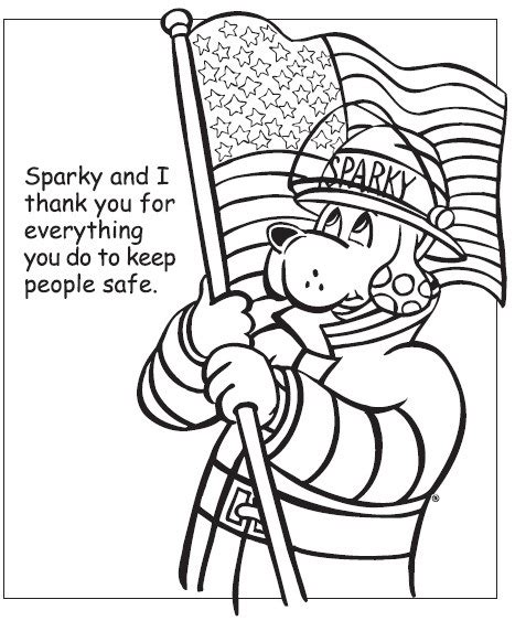 sparky the fire dog do fire drill coloring pages kids play