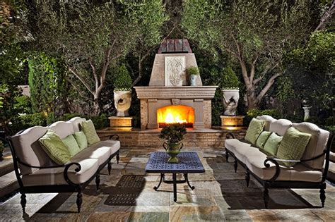 outdoor fireplace furniture luxury backyard luxury pools
