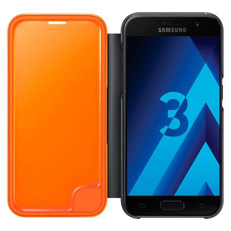 Samsung A3 2017 Transformer samsung flip cover neon noir samsung galaxy a3 2017 etui t 233 l 233 phone samsung sur ldlc