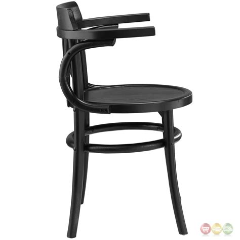 Rounded Dining Chairs Stretch Modern Rustic Solid Wood Seat Dining Side Chair Black