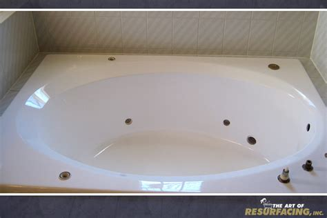 refinish acrylic bathtub tub resurfacing the art of resurfacing inc