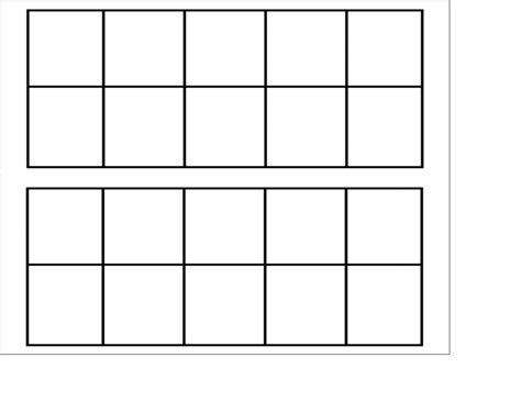 10 frame template printable ten frame template cyberuse