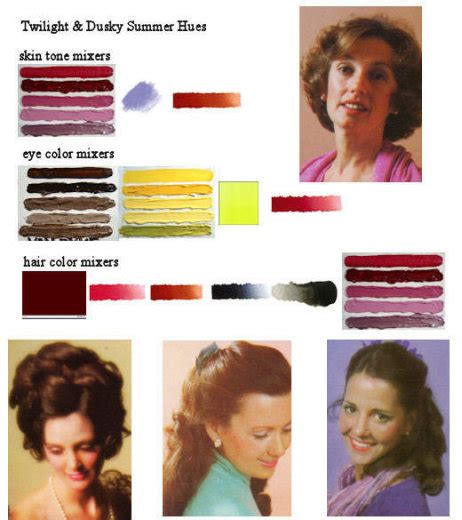 suzanne summer hair color treatment summer coloration twilight and dusky summer skin tone