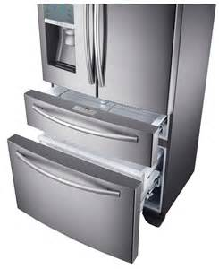 How To Clean Samsung Refrigerator Drawers by Samsung Rf24fsedbsr Stainless Steel Counter