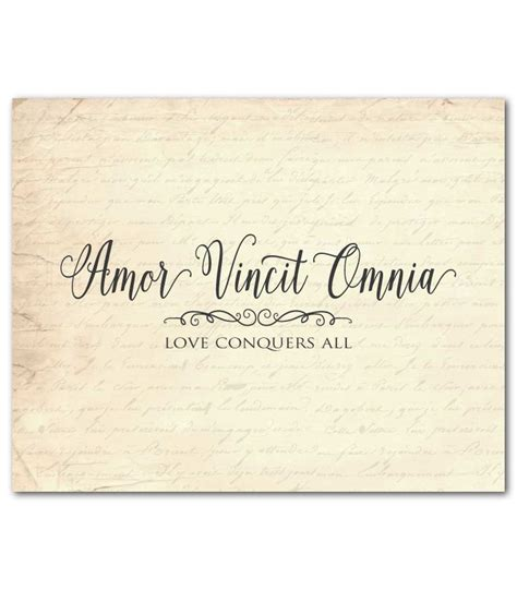 latin typography tattoo amor vincit omnia love conquers all latin typography