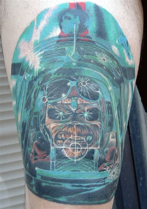 tattoo aftercare aces high iron maiden aces high tattoo of eddie from iron maiden