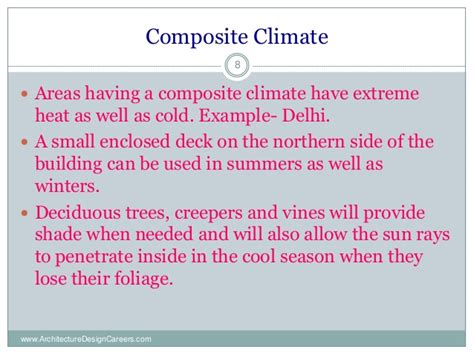 Design Criteria For Composite Climate | climatology