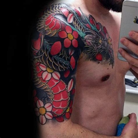 tattoo inspiration male sleeve 30 dragon half sleeve tattoos for men fire spewing