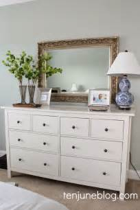 ten june master bedroom dresser vignette