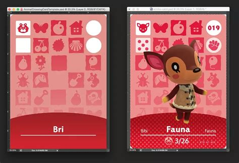 Animal Crossing Nfc Card Template by Animal Crossing Amiibo Cards Wip By Birdfox Fur