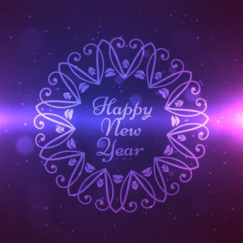 new year ornament vector free happy new year design in ornament frame vector free