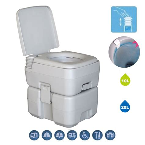 indoor portable toilet 20l 5 gallon portable toilet travel cing flush potty
