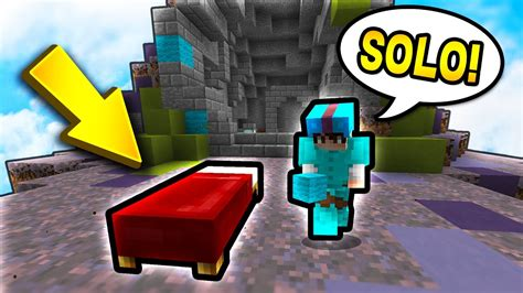 bed wars my first solo bed wars game minecraft bed wars youtube