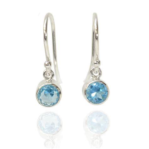 sterling silver birthstone earrings by lilia nash