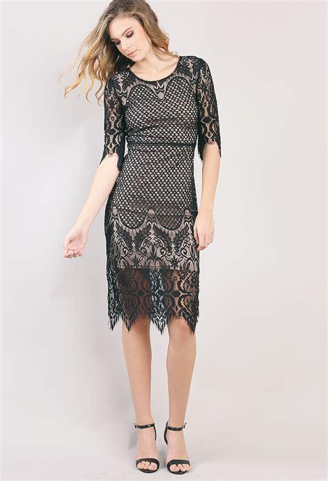 Eyelash Hem Dress eyelash lace hem mini dress shop midi dresses at papaya