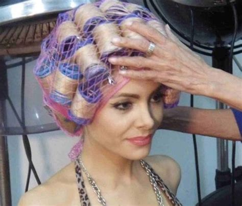 video sissy boy hair set in rollers and comb out pin by blond bouffant on please touch my hair pinterest