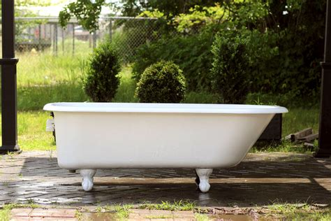 footed bathtub large refinished white clawfoot bathtub 5 5 antique cast