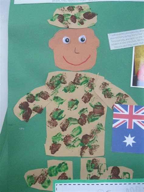 Anzac Memorial Veterans Day Soldier Craft Top Teacher Innovative And Creative Early Veterans Day Soldier Template
