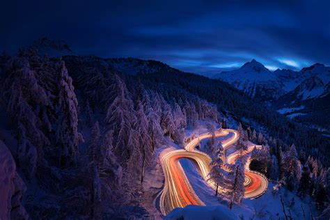 time lapse photography forest landscape mountain