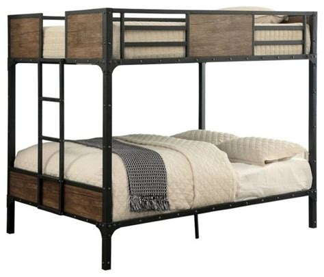 furniture of america clapton bunk bed black