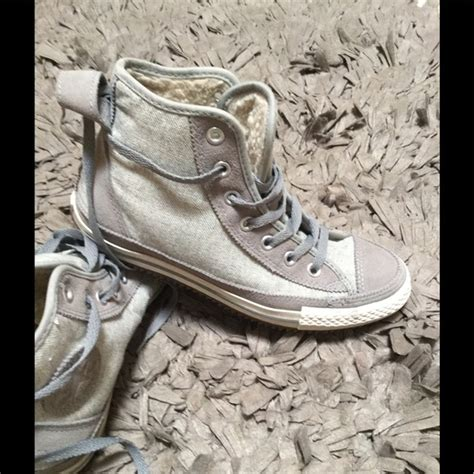 High Top Fleece Lined Sneakers 27 converse shoes converse fleece lined high top