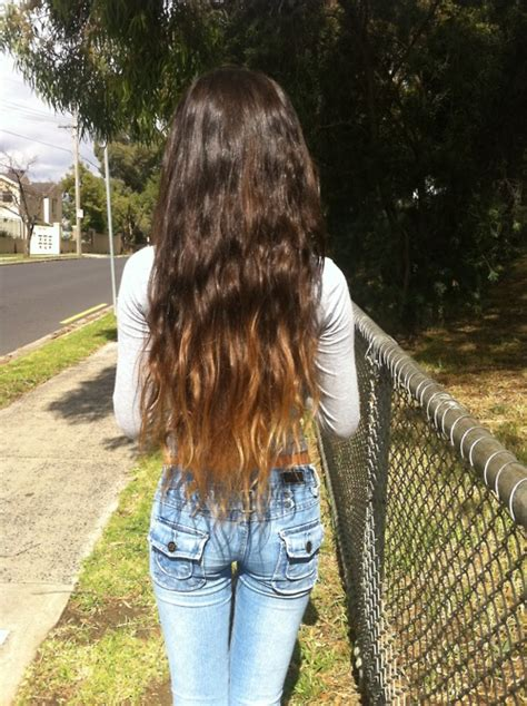 hairstyles for long dip dyed hair ombre hair color idea wavy dip dyed long hair