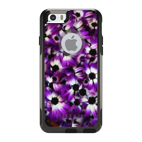 Iphone Casing Flower Cammomile White Black 6 7 otterbox commuter for iphone 5s se 6 6s 7 plus purple