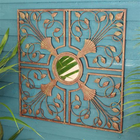 backyard wall art kasbah metal mirror wall art by garden selections
