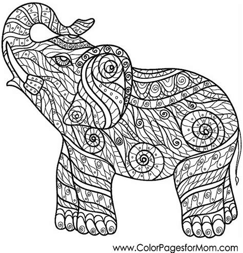 elephant coloring page for adults 17 best images about elephants coloring for adults art