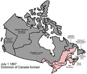 map of canada 1867 confederation treaty in the west
