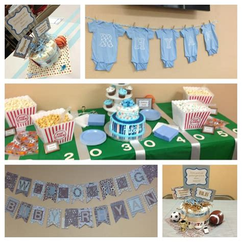 Sports Baby Shower Decoration Ideas by Baby Boy Sports Themed Baby Shower Baby Shower