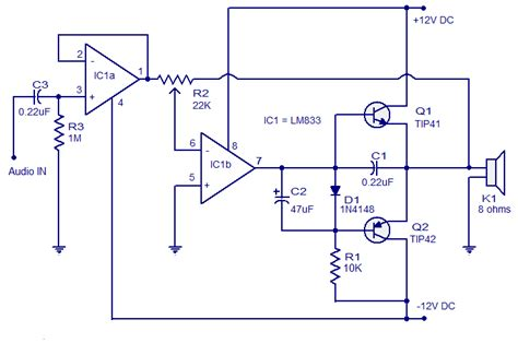 power lifier circuit diagram with pcb layout circuit