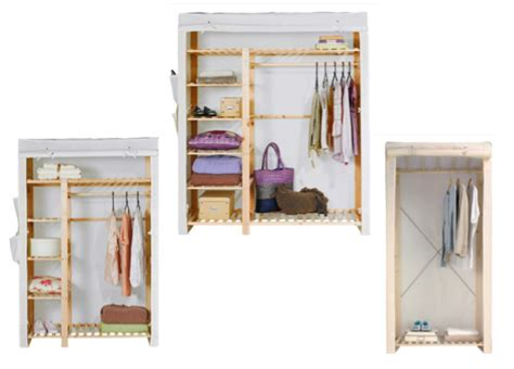 canvas and wood wardrobe canvas single polycotton and wood