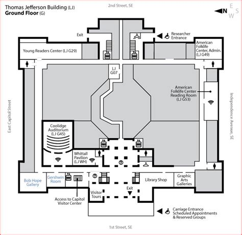 library of congress floor plan jefferson building ground floor library of congress