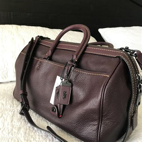 what color is oxblood coach rogue 36 color oxblood leather satchel tradesy