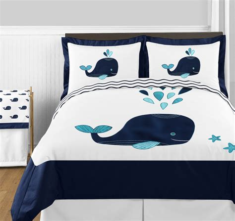 whale full queen bedding collection