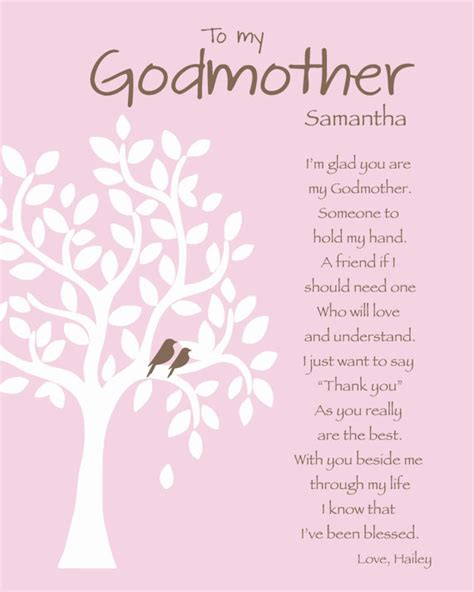 printable baptism quotes godmother gift personalized godmother print by