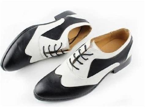 handmade mens spectator shoes black and white dress