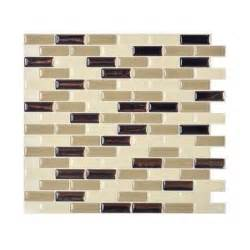 peel and stick wall tile backsplash smart tiles 9 10 in x 10 20 in mosaic peel and stick