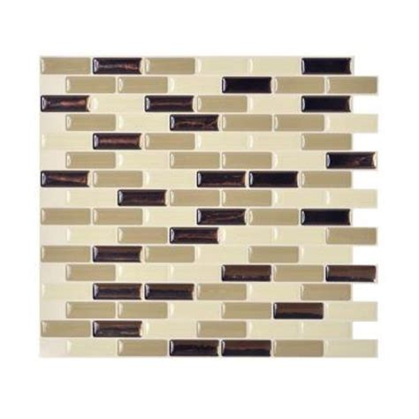peel and stick backsplash home depot smart tiles 9 10 in x 10 20 in mosaic peel and stick