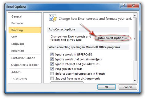 Office 365 Outlook Spell Check Not Working How To Turn Auto Spell Check In Excel 2007 Learn New